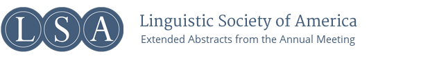 LSA Extended Abstracts from the Annual Meeting